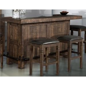 Market Square Thatcher Thatcher 4-Piece Bar Set with Backless Stool