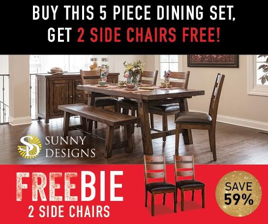 Tremont Tremont Dining Set with Freebie! by Sunny Designs at Morris Home