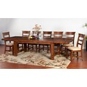 Sunny Designs Tuscany 8-Piece Extension Table Set - Item Number: 1316VM+8x1604