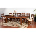 Sunny Designs Tuscany Distressed Mahogany Extension Table