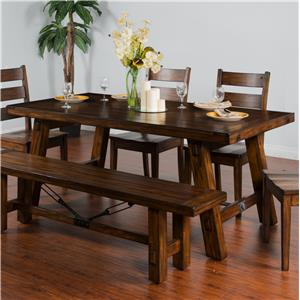 Sunny Designs Tuscany Extension Table w/ Turnbuckle