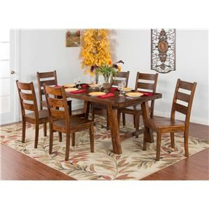 Table & 4 Upholstered Chairs