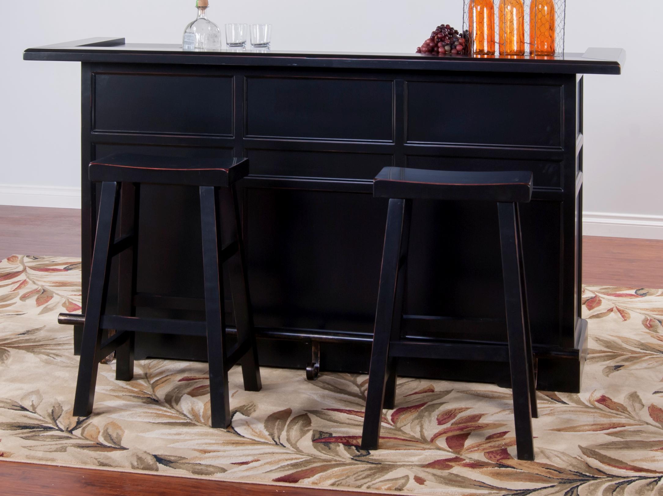 Morris Home Furnishings Vandalia Vandalia 3-Piece Bar Set - Item Number: 2575VB-T/B/1769VB(4)