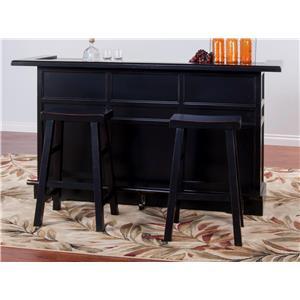 Morris Home Furnishings Vandalia Vandalia 3-Piece Bar Set