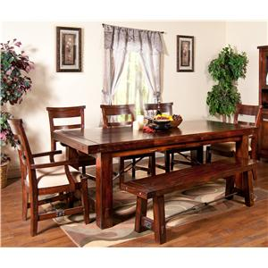Sunny Designs Vineyard 7-Piece Extension Table Set