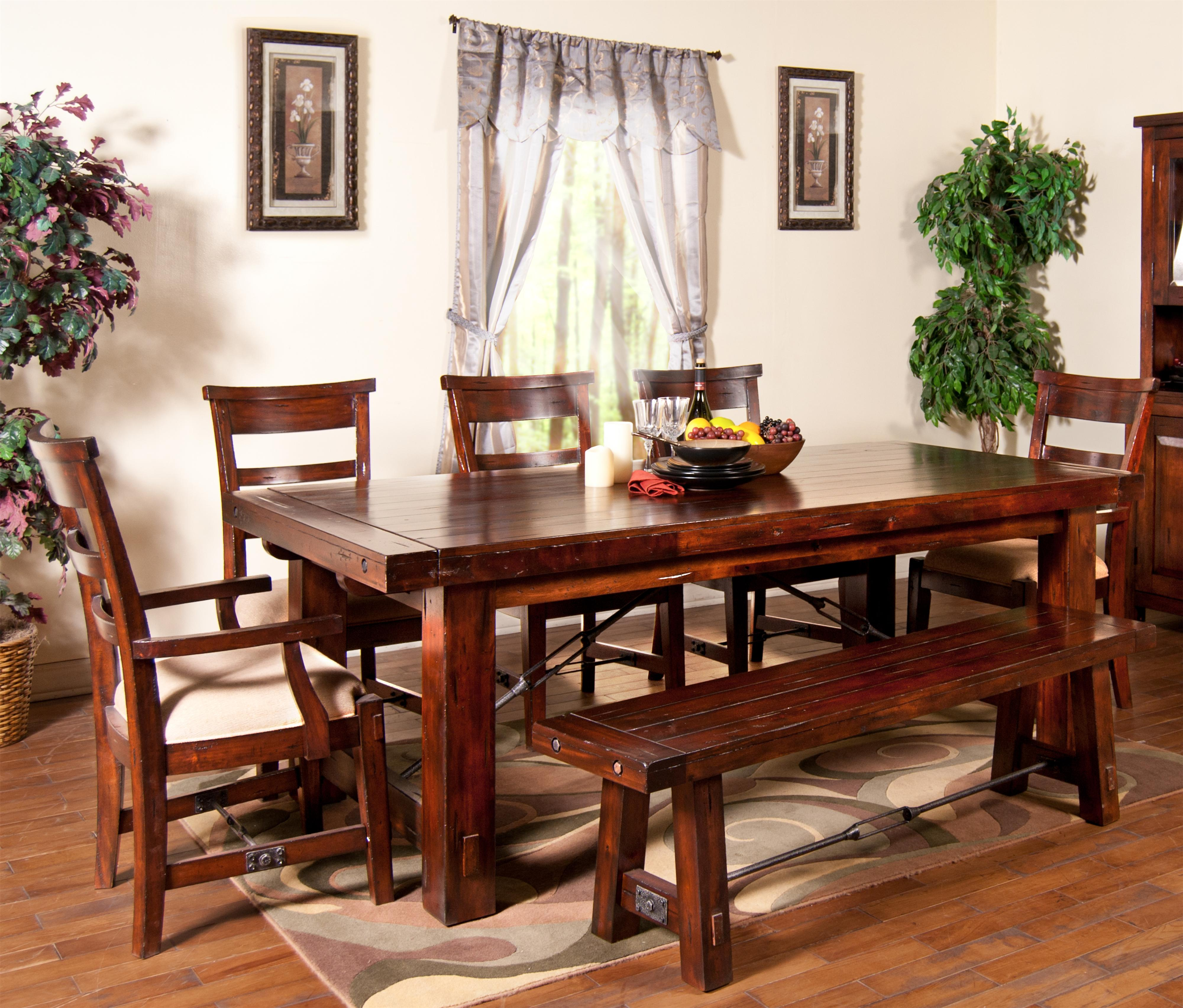 Kitchen Table And Benches: Sunny Designs Vineyard Rectangular Extension Leg Table