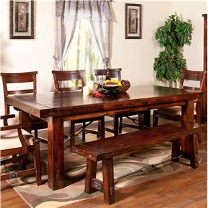 Sunny Designs Vineyard Solid Mahogany Extension Table