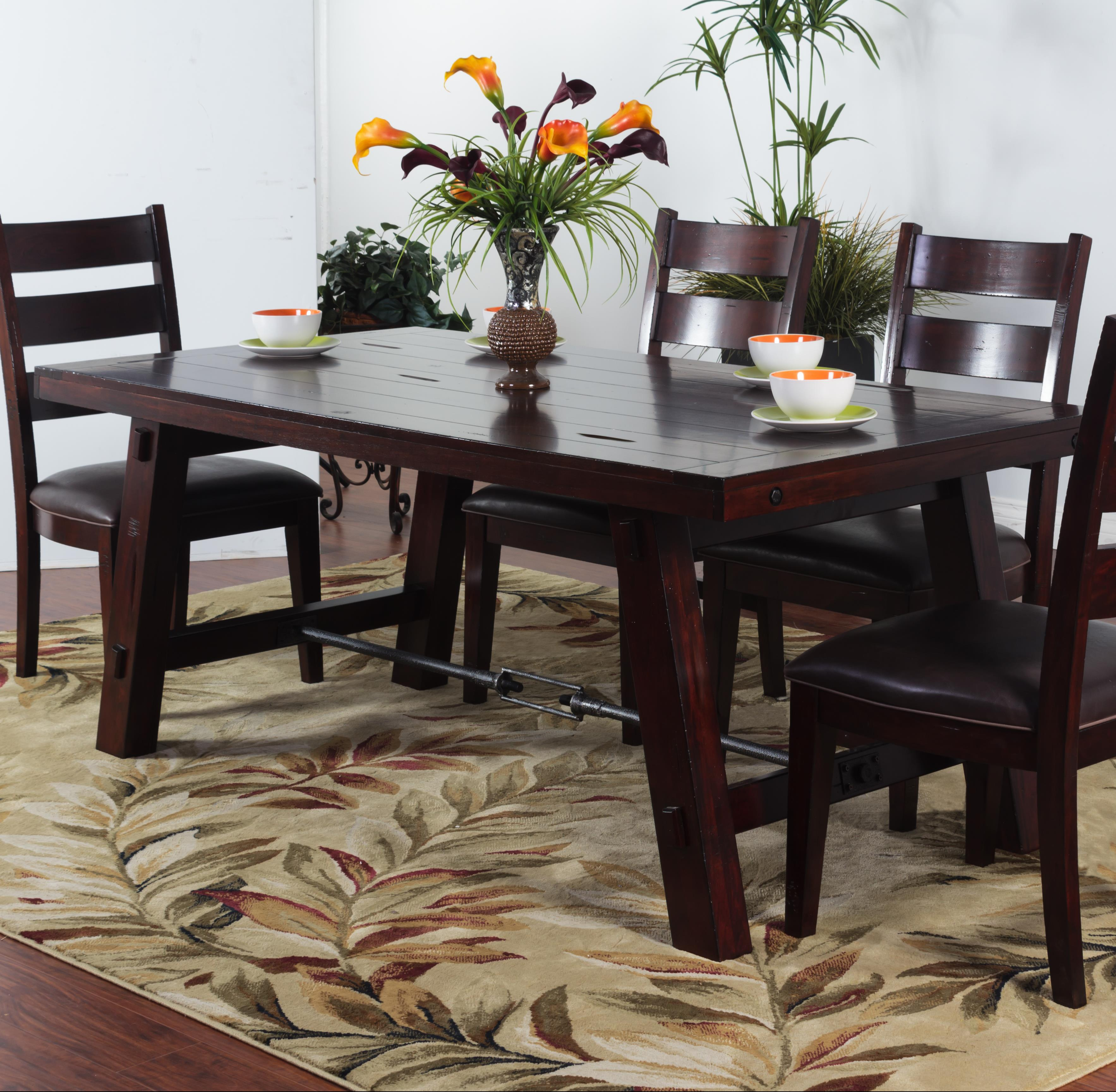 Sunny designs vineyard solid mahogany rectangular table with sunny designs vineyard rectangular table item number 1367rm geotapseo Image collections