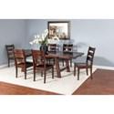 Sunny Designs Vineyard 7 Piece Dining Set - Item Number: 1380RM+4x1508RM