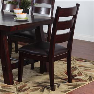 Sunny Designs Vineyard Ladderback Chair w/ Cushion Seat