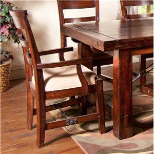 Ladder-Back Dining Arm Chair