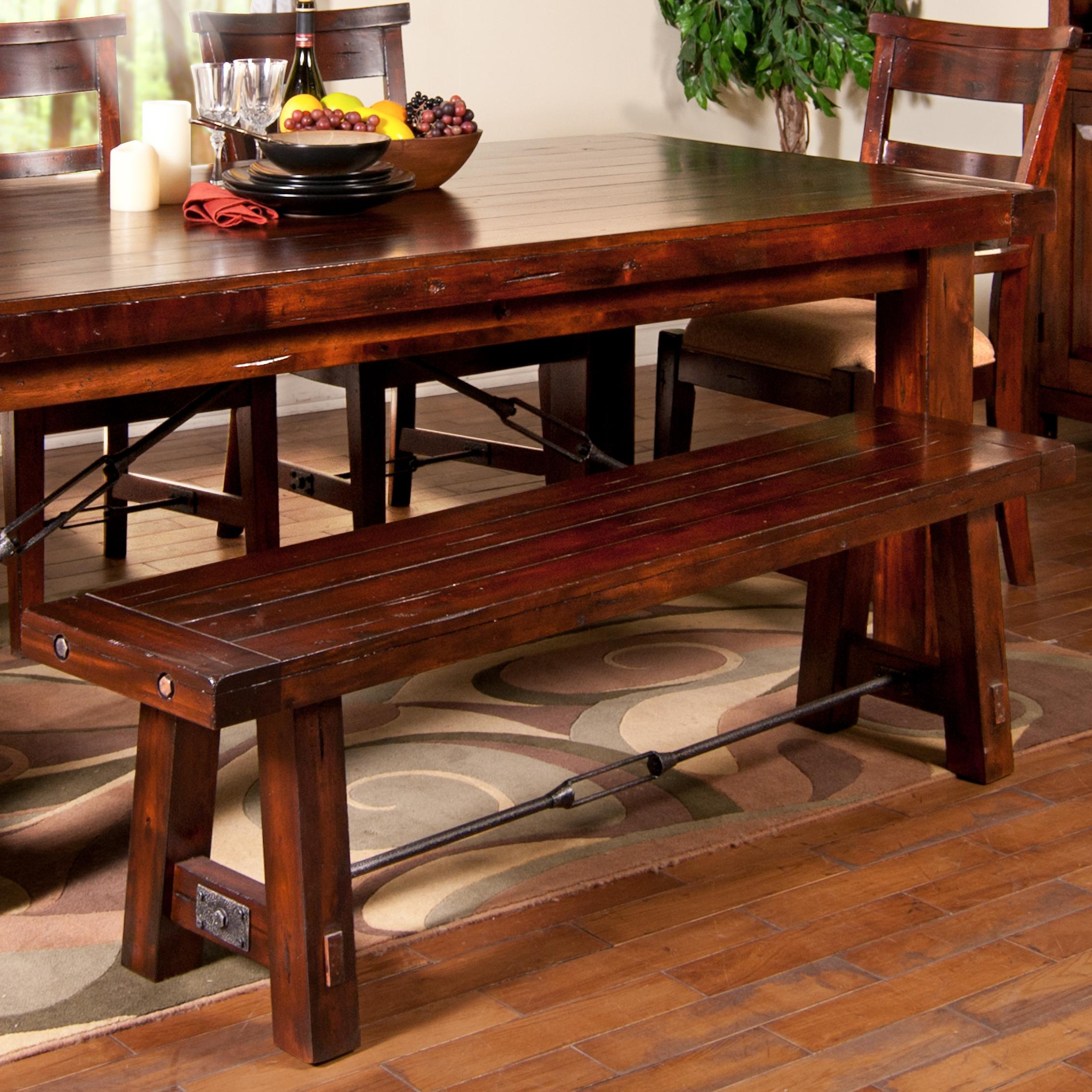 Kitchen Tables With Benches And Chairs Table Wood: Sunny Designs Vineyard 1615RM Dining Bench With Wood Seat