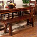 Sunny Designs Vineyard Dining Bench with Wood Seat - Item Number: 1615RM