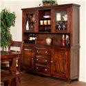 Sunny Designs Vineyard 2-Piece China Cabinet - Item Number: 2428RM