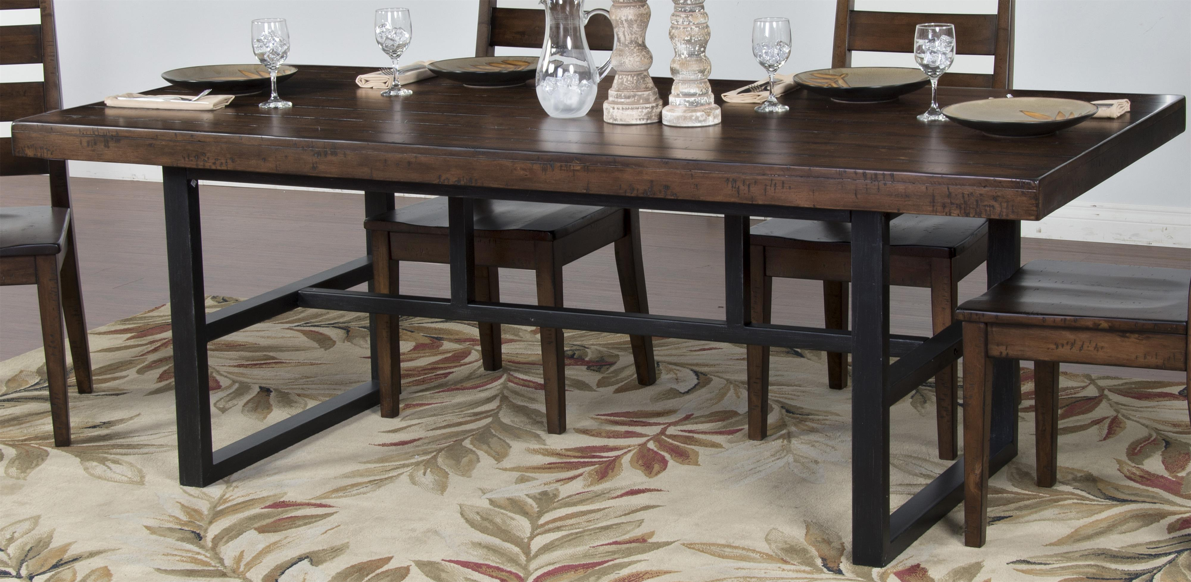 Morris Home Furnishings Wellman Wellman Dining Table - Item Number: 317833297