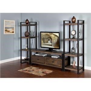 "Morris Home Furnishings Wessington Wessington 64"" Console and Piers"