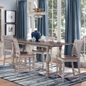 Sunny Designs Westwood Village 5-Piece Counter Height Dining Set - Item Number: 1107WV+4X1610WV-24
