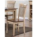 Sunset Trading Co. Blake Rack Back Side Chair - Item Number: DLU-BR-C70-PW-RTA