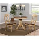 Sunset Trading Co. Blake 3PC Dinette Set - Item Number: DLU-BR-TP-3636+2x-C50