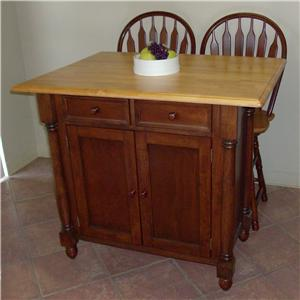 Sunset Trading Co. Sunset Selections Kitchen Island with Drop Leaf