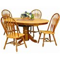 Sunset Trading Co. Sunset Selections 5 Piece Dining Set - Item Number: DLU-TBX-4266-SET-NLO+4x4130-NLO