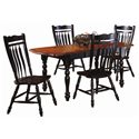 Sunset Trading Co. Sunset Selections Dining Table with Drop Leaves - Shown with Matching Side Chairs