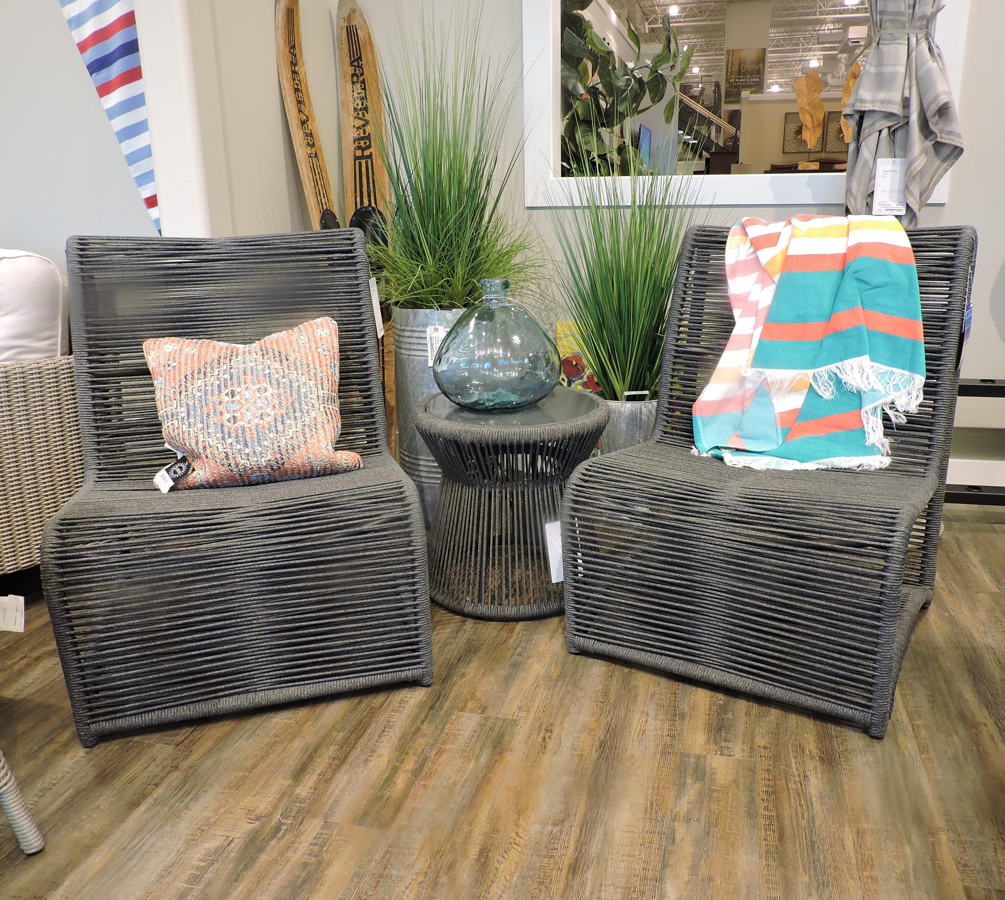 Clearance 3 Piece Outdoor Conversation Set by Sunset West at Belfort Furniture