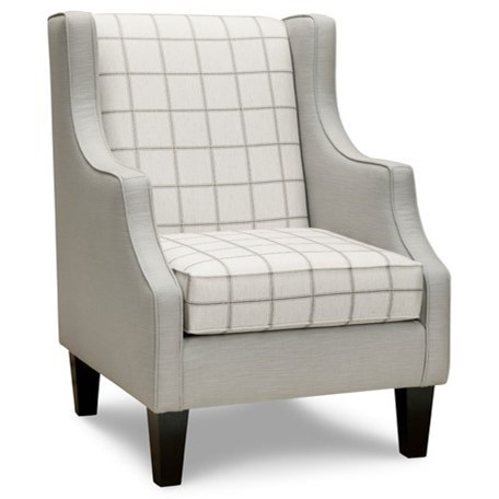 Superstyle 10 Accent Chair - Item Number: 10 White Checkered
