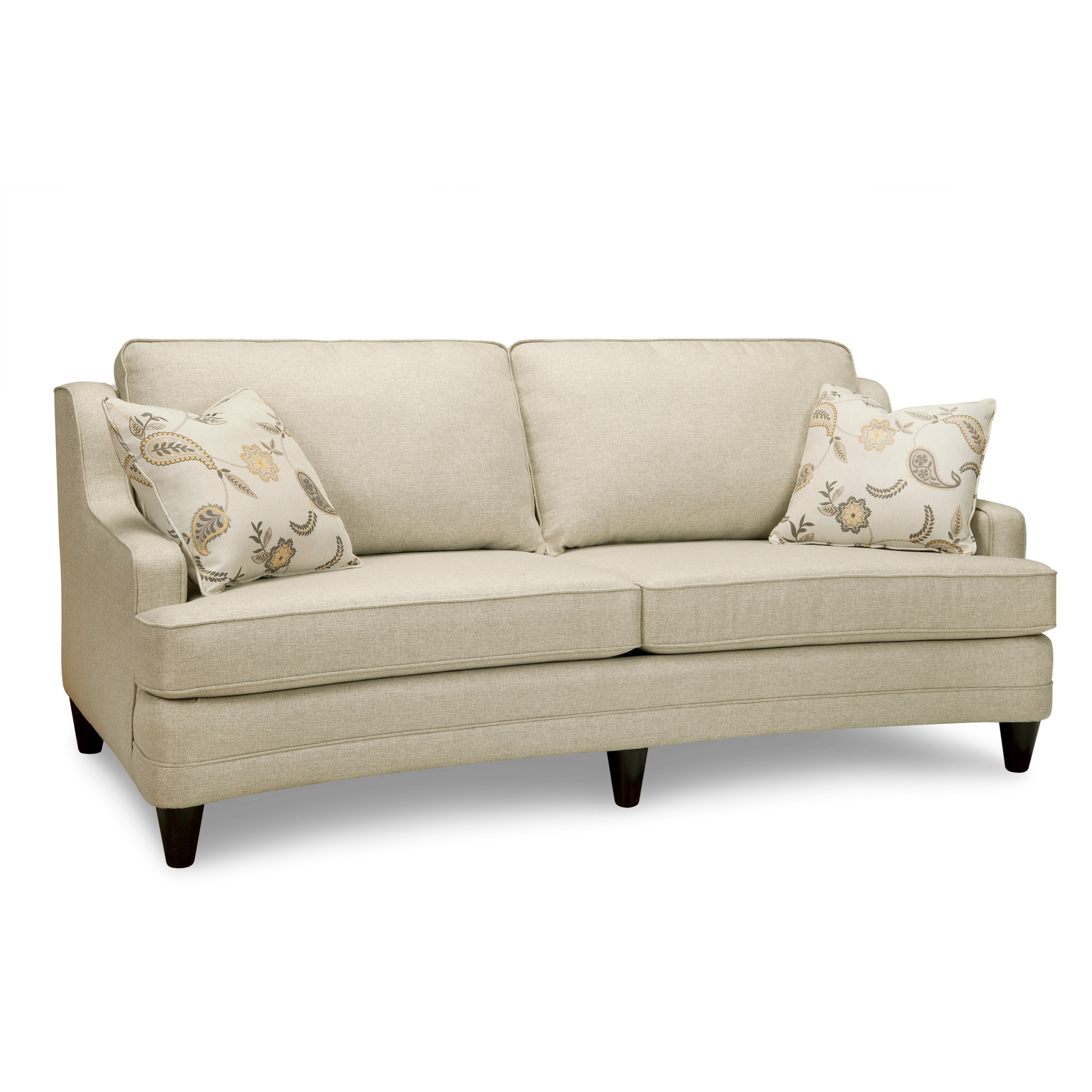 Superstyle 9691 Curved Sofa Item Number Liza Linen
