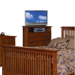 Sure Furniture Design Mission TV Chest