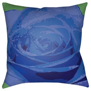 Surya Abstract Floral Pillow