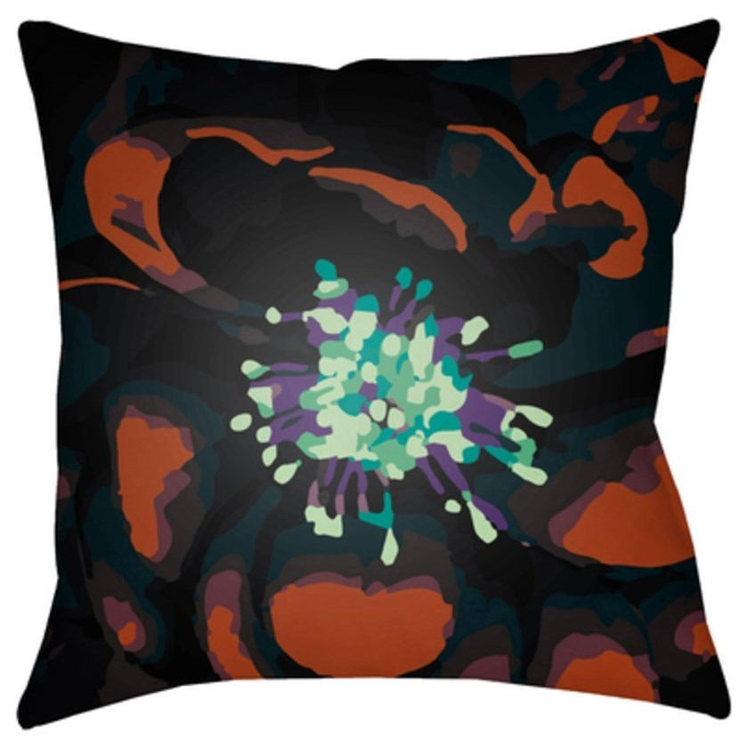 Surya Abstract Floral Pillow - Item Number: AF006-1818