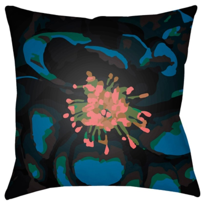 Surya Abstract Floral Pillow - Item Number: AF010-1818