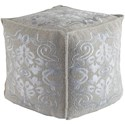 Ruby-Gordon Accents Adeline 18 x 18 x 18 Cube Pouf - Item Number: ADPF1000-181818