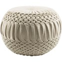 Ruby-Gordon Accents Alana 18 x 18 x 14 Cube Pouf - Item Number: AAPF001-181814
