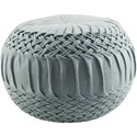 Ruby-Gordon Accents Alana 18 x 18 x 14 Cube Pouf - Item Number: AAPF003-181814