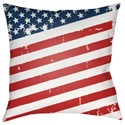 Surya Americana III Pillow - Item Number: SOL010-1818