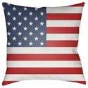 Surya Americana Pillow - Item Number: SOL001-1818