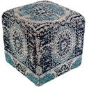 Surya Amsterdam Cube Pouf - Item Number: AMPF003-181818