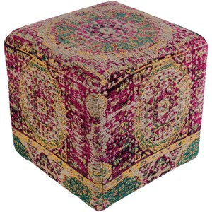 Surya Amsterdam Cube Pouf