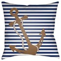 Surya Anchor Pillow - Item Number: LIL001-1818