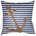 Surya Anchor Pillow - Item Number: LIL001-2020