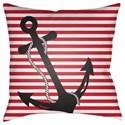 Surya Anchor Pillow - Item Number: LIL002-1818