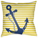 Surya Anchor Pillow - Item Number: LIL004-1818