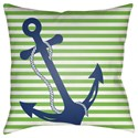 Surya Anchor Pillow - Item Number: LIL005-1818