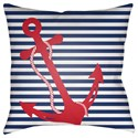 Surya Anchor Pillow - Item Number: LIL006-1818