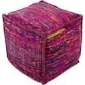 Surya Bazaar 18 x 18 x 18 Cube Pouf - Item Number: BZPF004-181818