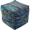 Surya Bazaar 18 x 18 x 18 Cube Pouf - Item Number: BZPF005-181818