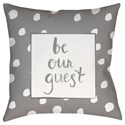 Surya Be Our Guest Pillow - Item Number: QTE002-2020