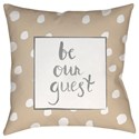 Surya Be Our Guest Pillow - Item Number: QTE004-2020